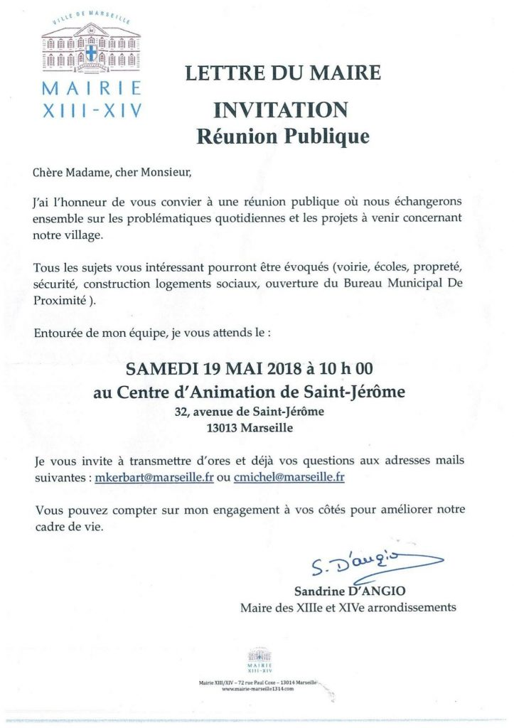 19 Mai 2018 Invitation Reunion Publique Marseille 13 14