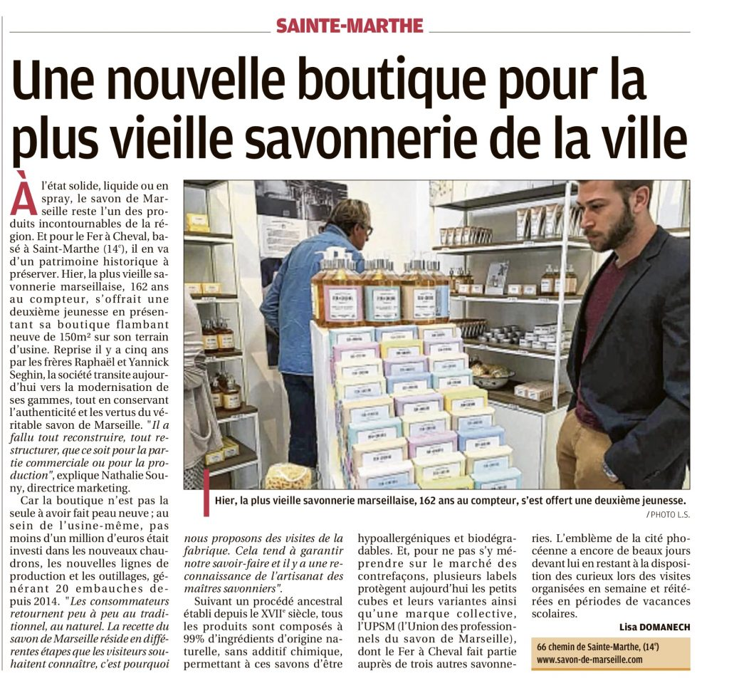 Illustration article paru sur le journal de La Provence le Vendredi 8 Juin 2018